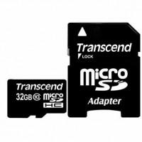 Карта памяти 32 Гб micro SD Transcend HC с адаптером