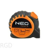Рулетка Neo 67-163 3м/16мм с фиксатором selflock