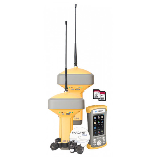 Два приемника Topcon GR-5, DUHFII/GSM с контроллером FC500 Magnet Field GPS+