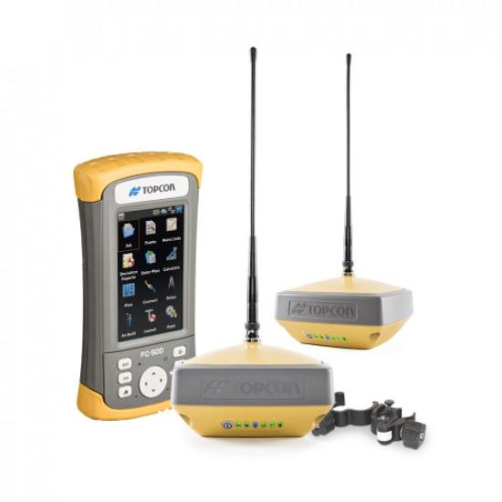 Комплект из двух приемников Topcon Hiper VR UHF/GSM и контроллера FC-500